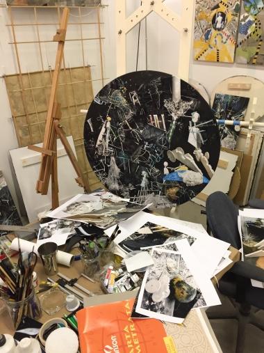 Aga Ousseinov Studio View NYC 2017